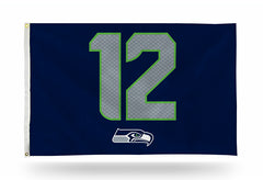 NFL Seattle Seahawks 12th Man 3' X 5' Banner Flag