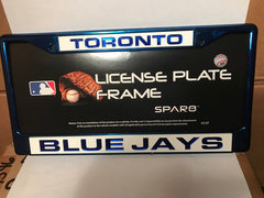 MLB Toronto Blue Jays Blue Laser Cut Chrome License Plate Frame