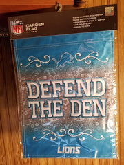 "NFL Detroit Lions ""Defend The Den"" Garden Flag  13""  X  18"""