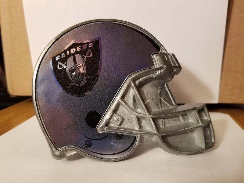 "NFL Oakland Raiders Metal Helmet Trailer Hitch Cover ( for 2"" hitch )"