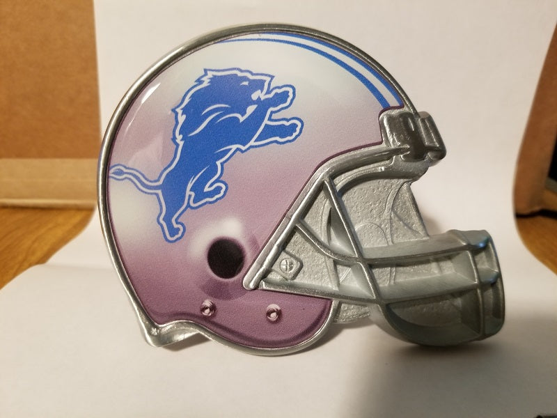 "NFL Detroit Lions Metal Helmet Trailer Hitch Cover ( for 2"" hitch )"