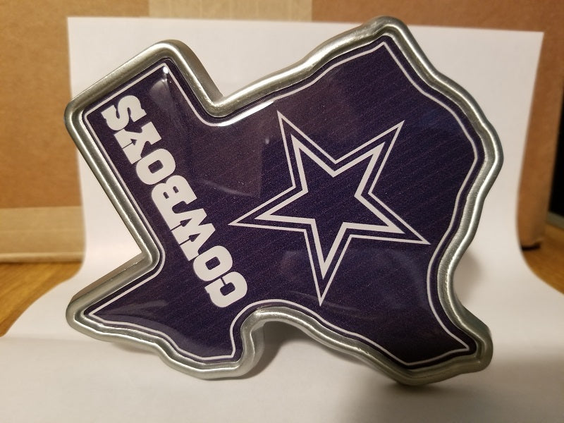 "NFL Dallas Cowboys Metal Texas Shaped Trailer Hitch Cover ( for 2"" hitch )"
