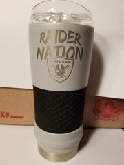 "NEW!! NFL Oakland Raiders 18oz ""Draft"" Insulated Tumbler - Rally Cry"