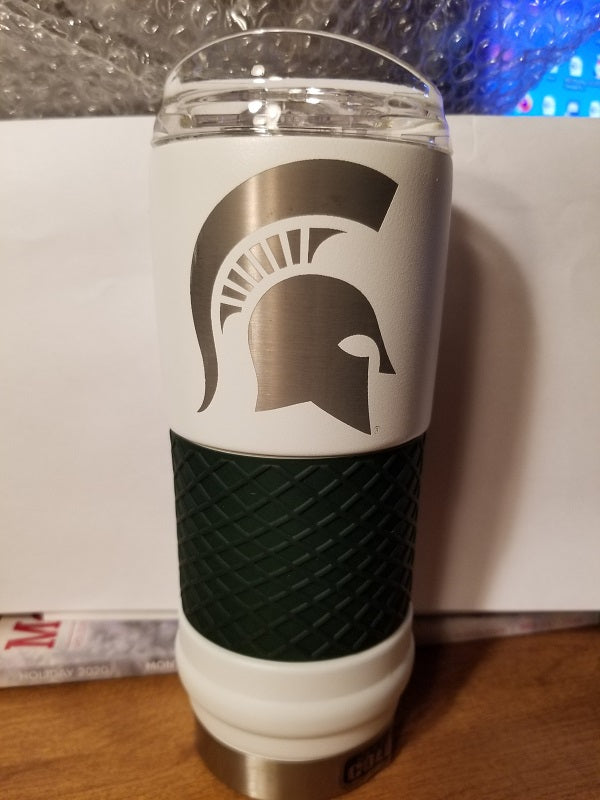 "NEW!! NCAA Michigan State Spartans 18oz ""Draft"" Insulated Tumbler - Rally Cry"