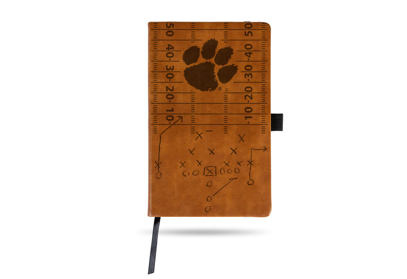 NCAA Clemson Tigers Laser Engraved Leather Notebook - Brown