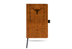 NCAA Texas Longhorns Laser Engraved Leather Notebook - Brown