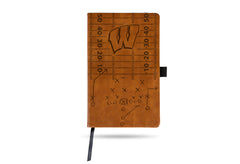NCAA Wisconsin Badgers Laser Engraved Leather Notebook - Brown