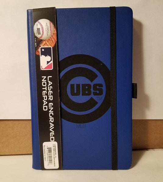 MLB Chicago Cubs Laser Engraved Leather Notebook - Royal Blue