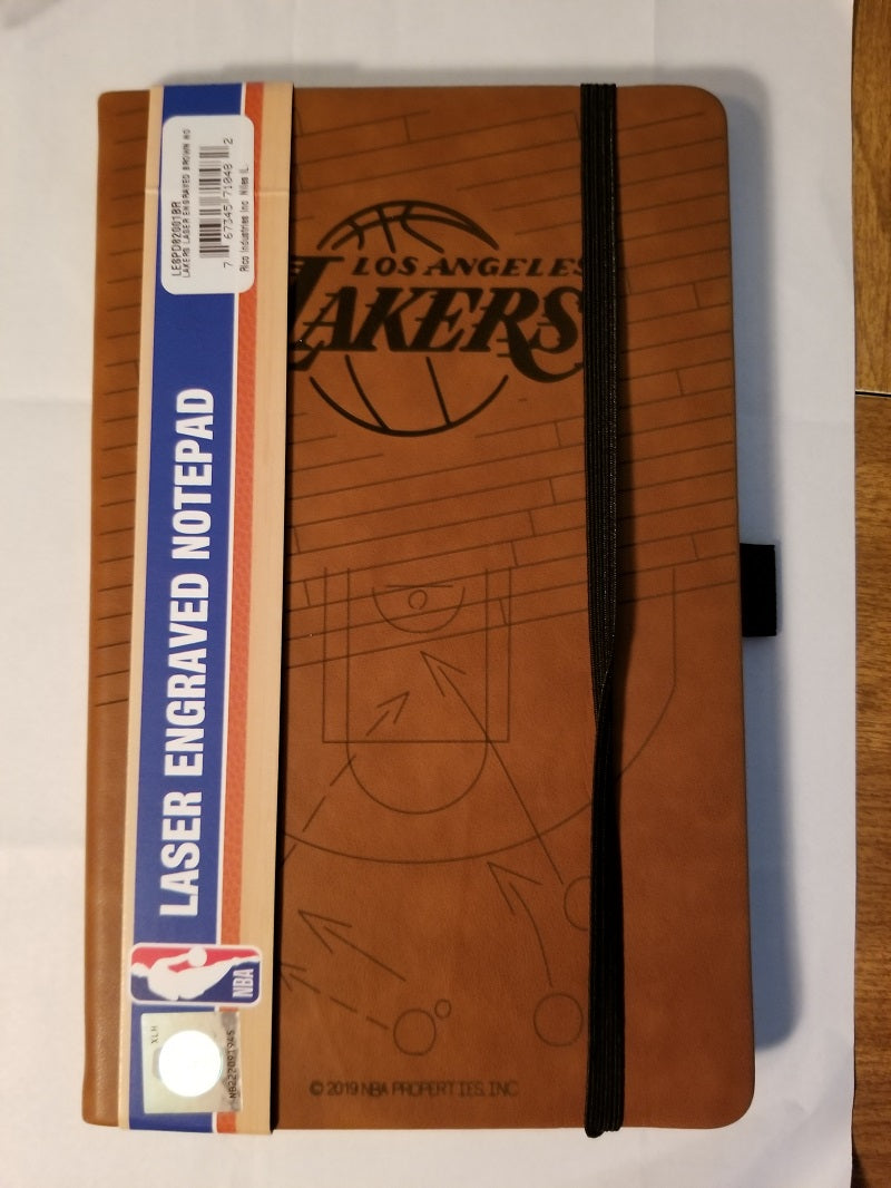 NBA Los Angeles Lakers Laser Engraved Leather Notebook - Brown