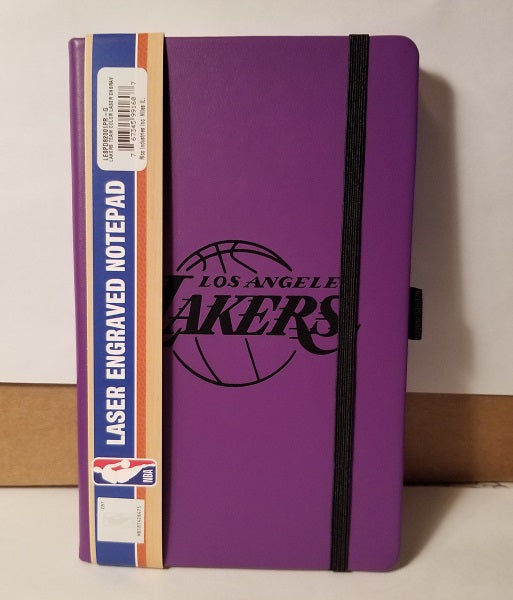 NBA Los Angeles Lakers Laser Engraved Leather Notebook - Purple