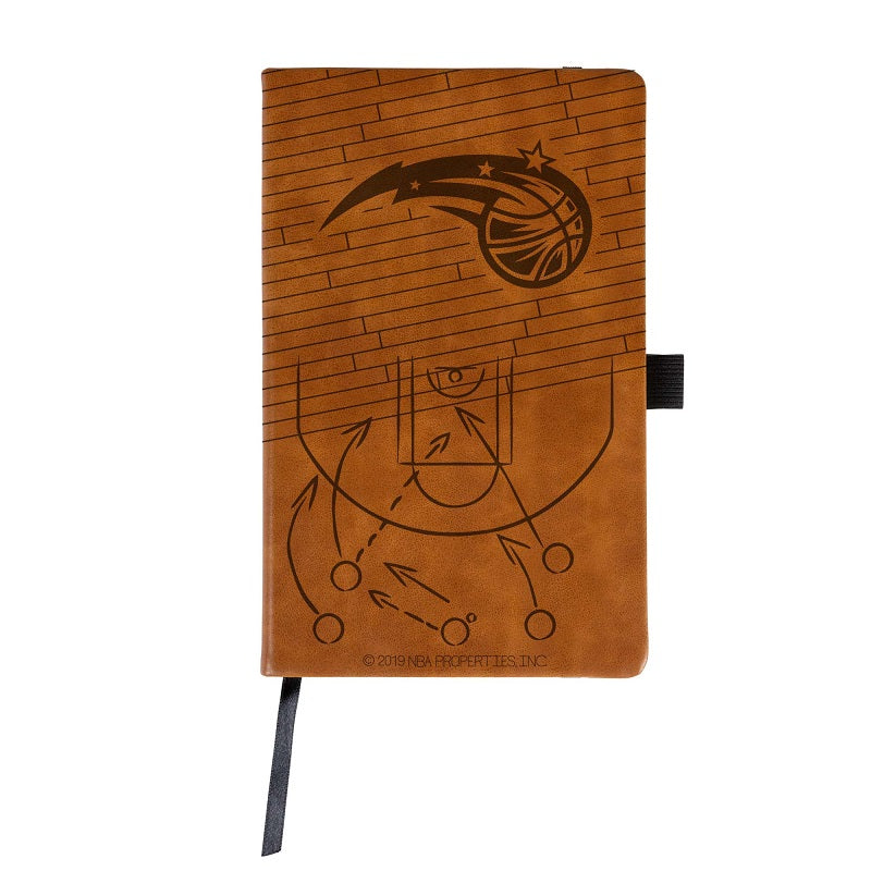 NBA Orlando Magic Laser Engraved Leather Notebook - Brown