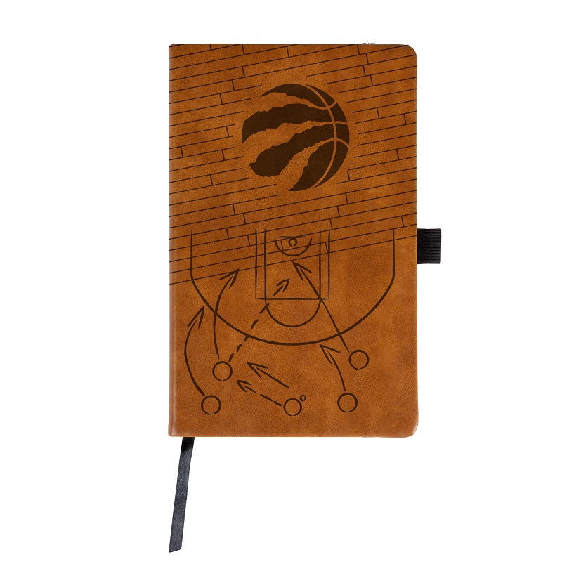 NBA Toronto Raptors Laser Engraved Leather Notebook - Brown