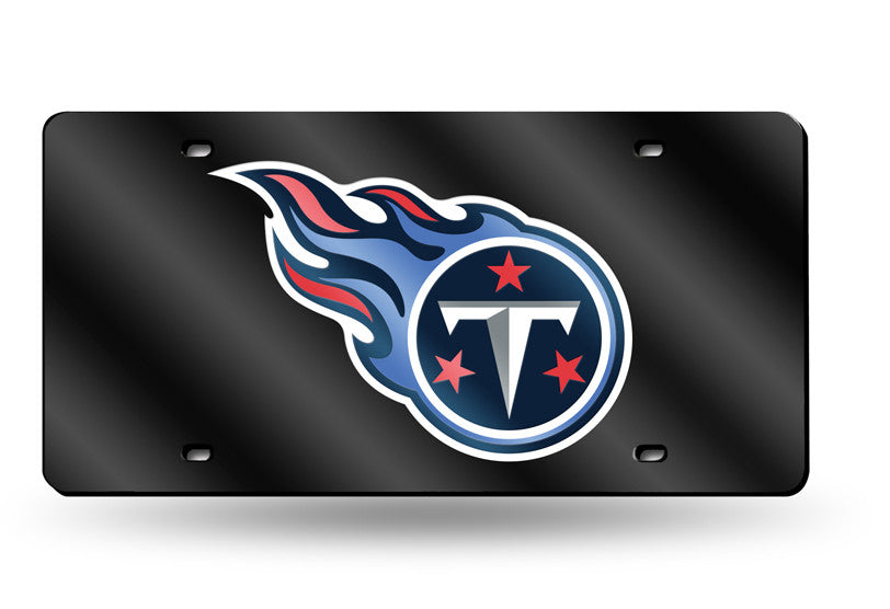 NFL Tennessee Titans Laser License Plate Tag - Black