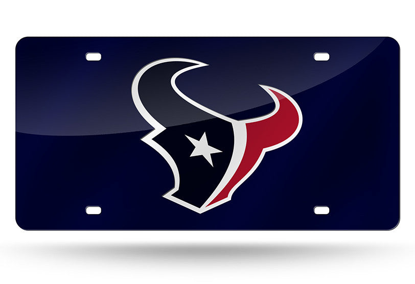NFL Houston Texans Laser License Plate Tag - Navy