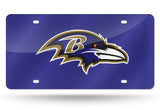 NFL Baltimore Ravens Laser License Plate Tag - Purple