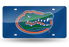 NCAA Florida Gators Laser License Plate Tag - Blue