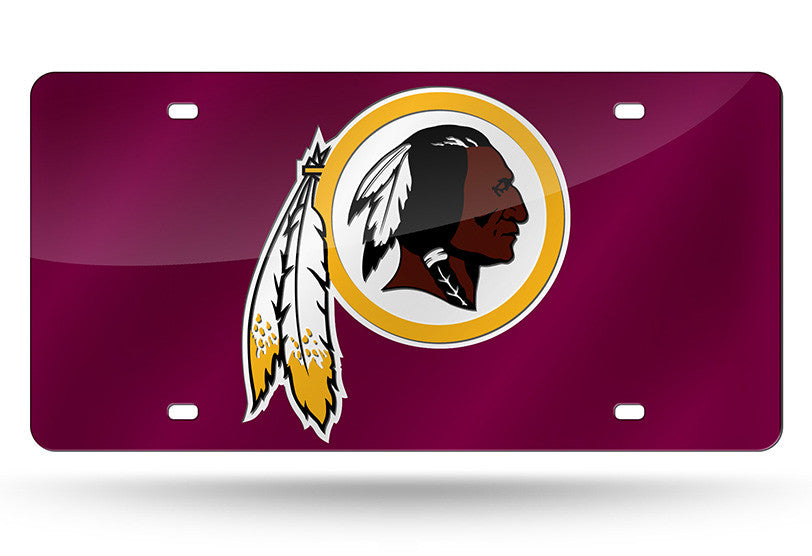 NFL Washington Redskins Laser License Plate Tag - Red
