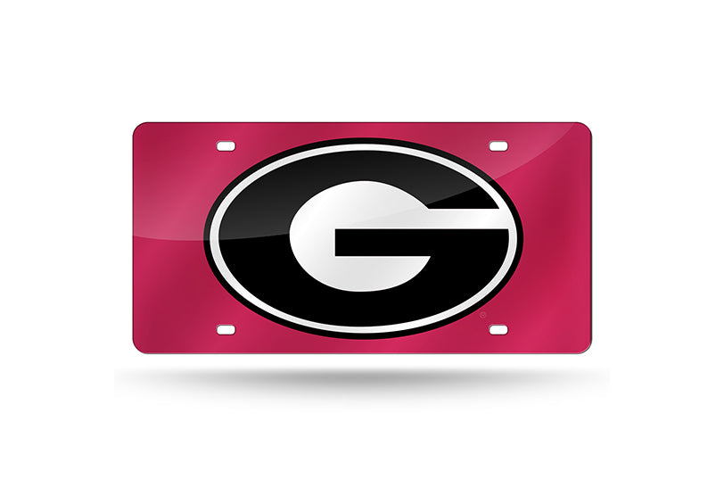 NCAA Georgia Bulldogs Laser License Plate Tag - Red