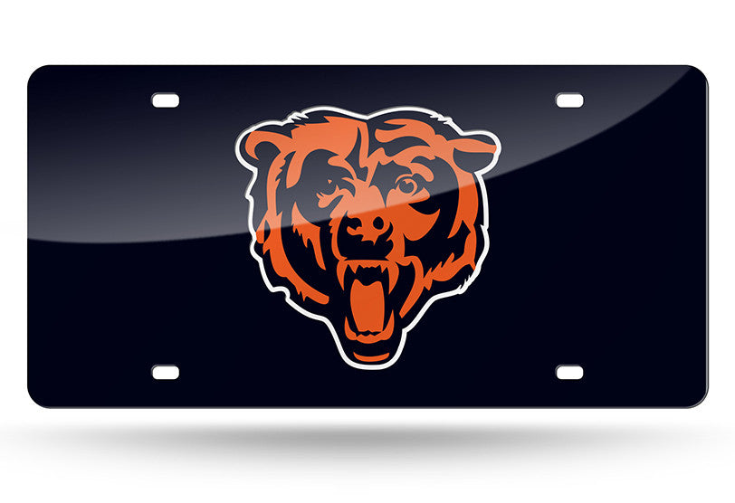 NFL Chicago Bears Laser License Plate Tag - Navy