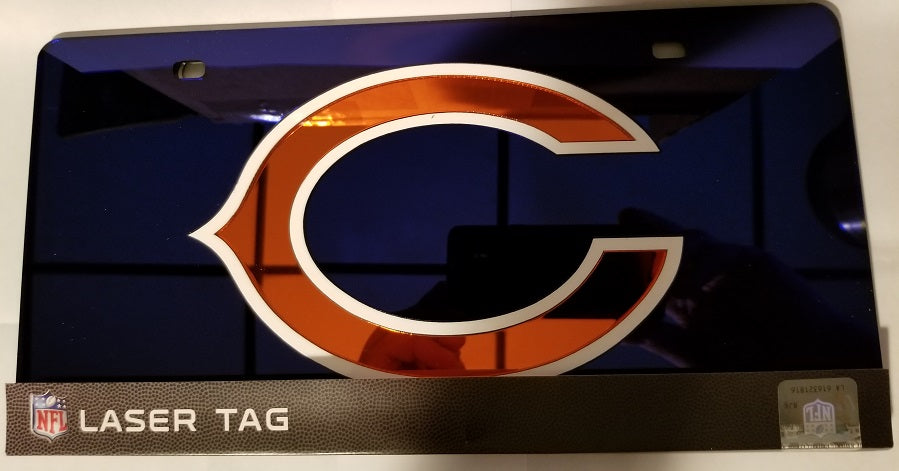 NFL Chicago Bears Laser License Plate Tag - Blue