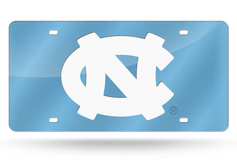 NCAA North Carolina Tar Heels Laser License Plate Tag - Light Blue