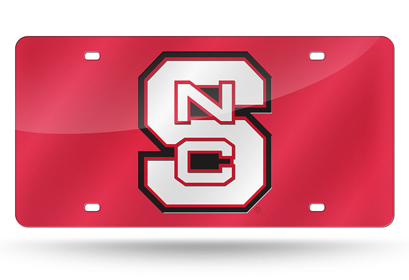 NCAA NC State Wolfpack Laser License Plate Tag - Red