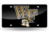 NCAA Wake Forest Demon Deacons Laser License Plate Tag - Black