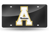 NCAA Appalachian State Mountaineers Laser License Plate Tag - Black
