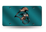 NCAA Coastal Carolina Chanticleers Laser License Plate Tag - Teal
