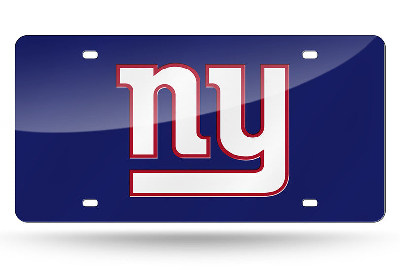 NFL New York Giants Laser License Plate Tag - Blue