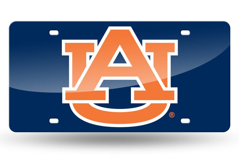 NCAA Auburn Tigers Laser License Plate Tag - Blue