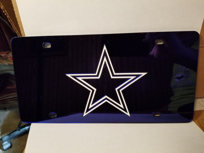 NFL Dallas Cowboys Laser License Plate Tag - Navy