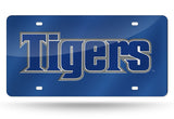 NCAA Memphis Tigers Laser License Plate Tag - Blue