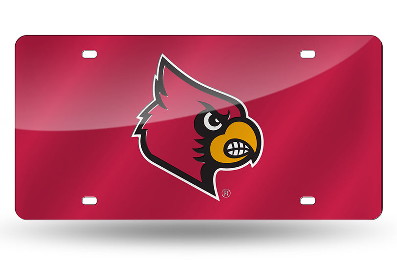 NCAA Louisville Cardinals Laser License Plate Tag - Red