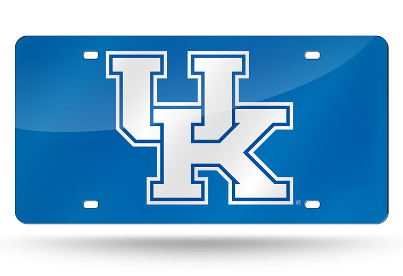 NCAA Kentucky Wildcats Laser License Plate Tag - Blue