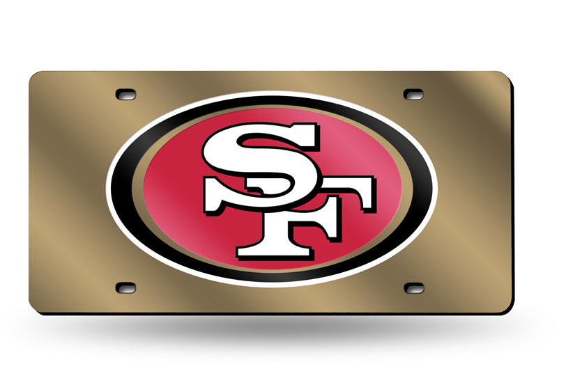 NFL San Francisco 49ers Laser License Plate Tag - Gold