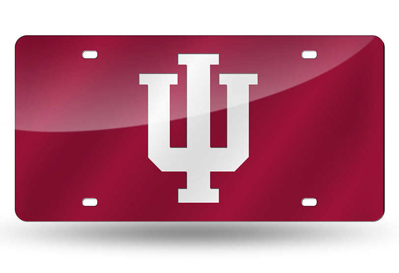 NCAA Indiana Hoosiers Laser License Plate Tag - Red