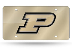 "NCAA Purdue Boilermakers ""P"" Laser License Plate Tag - Gold"