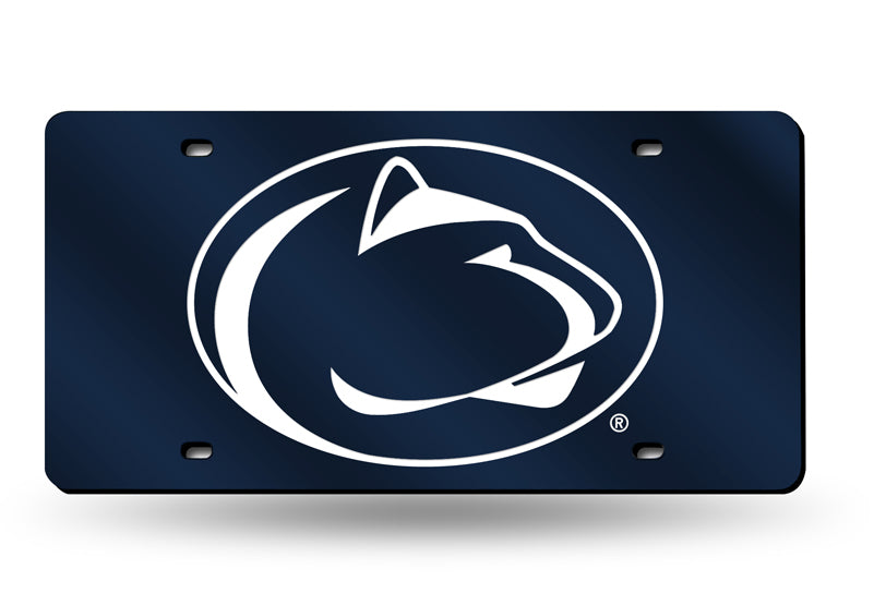 NCAA Penn State Nittany Lions Laser License Plate Tag - Navy