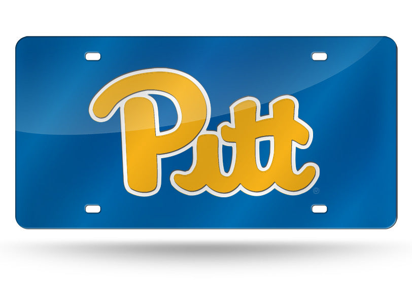 NCAA Pitt Panthers Laser License Plate Tag - Navy