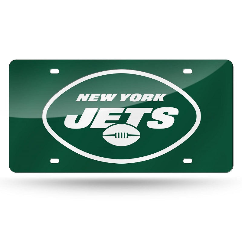 NFL New York Jets Laser License Plate Tag - Green