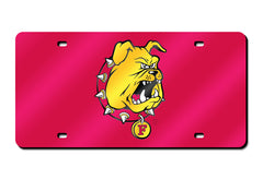 NCAA Ferris State Bulldogs Laser License Plate Tag - Red