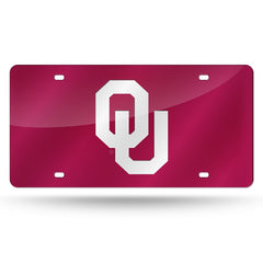 NCAA Oklahoma Sooners Laser License Plate Tag - Red