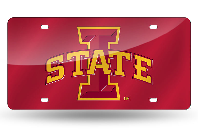 NCAA Iowa State Cyclones Laser License Plate Tag - Red
