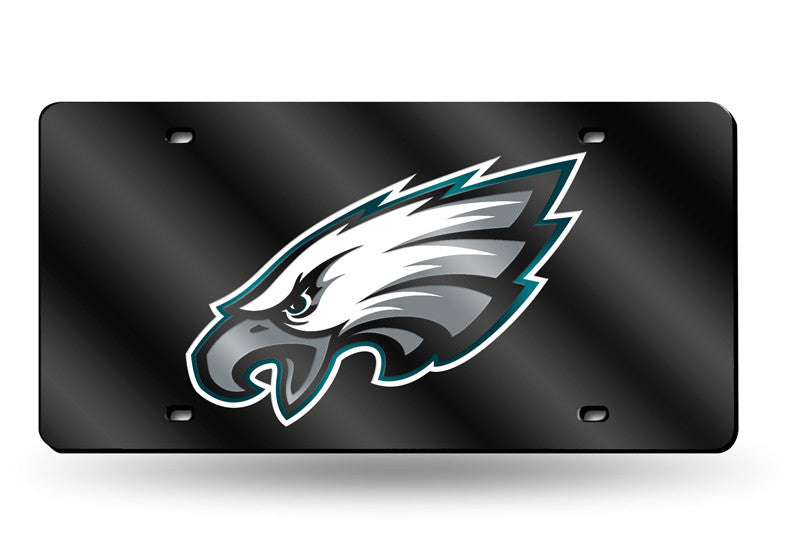 NFL Philadelphia Eagles Laser License Plate Tag - Black
