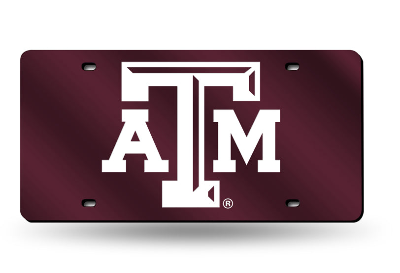 NCAA Texas A&M Aggies Laser License Plate Tag - Red