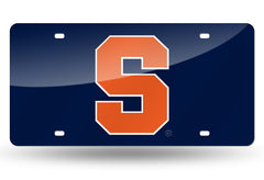 NCAA Syracuse Orange Laser License Plate Tag - Blue