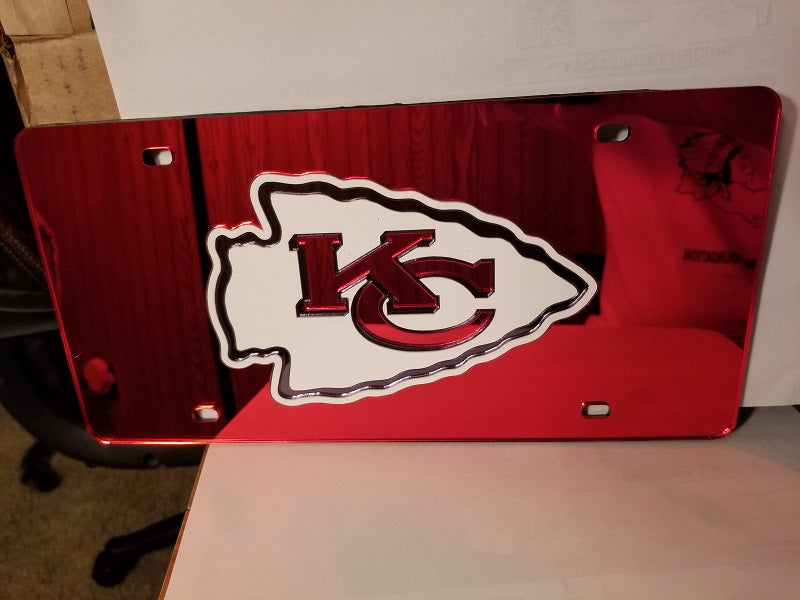NFL Kansas City Chiefs Laser License Plate Tag - Red