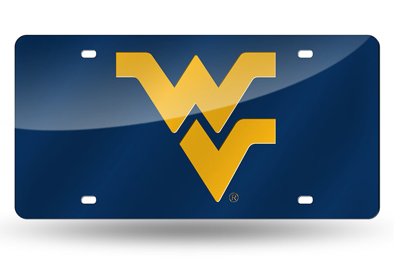 NCAA West Virginia Mountaineers Laser License Plate Tag - Blue