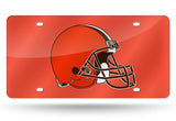 NFL Cleveland Browns Laser License Plate Tag - Orange